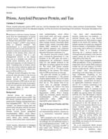 Prions, Amyloid Precursor Protein, and Tau