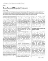 Trans Fats and Metabolic Syndrome