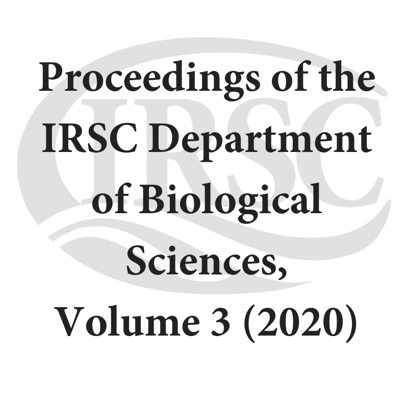 Proceedings of the IRSC Department of Biological Sciences, Volume 3 (2020)