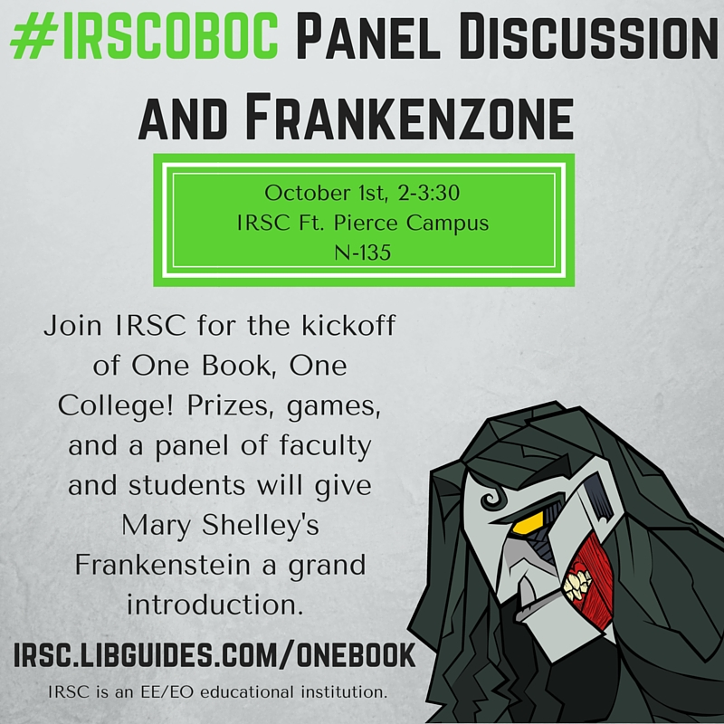 One Book, One College: IRSC Reads Frankenstein Panel Discussion